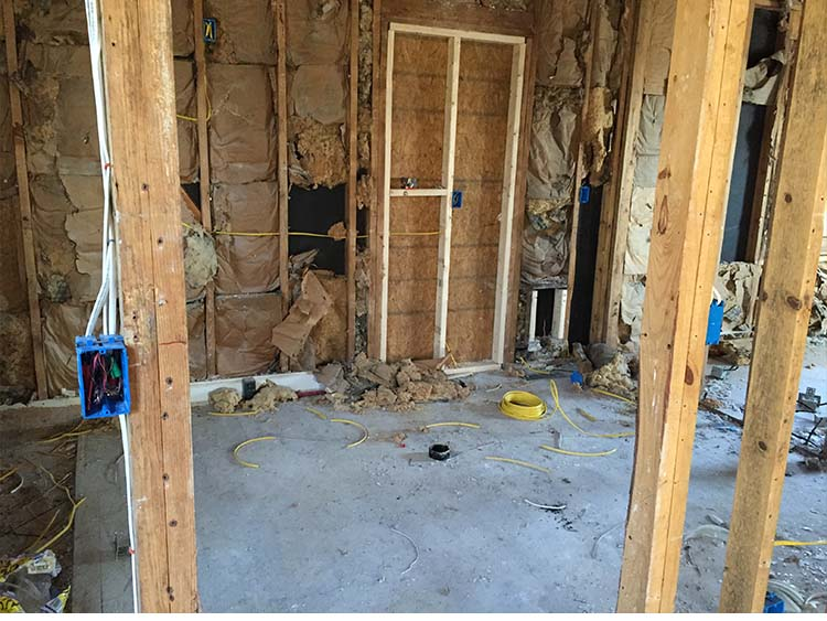 rewiring home to be flipped in Nashville