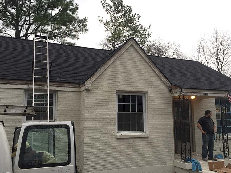 new roof on renovated home in nashville