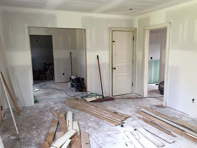 new drywall on renovated home in nashville