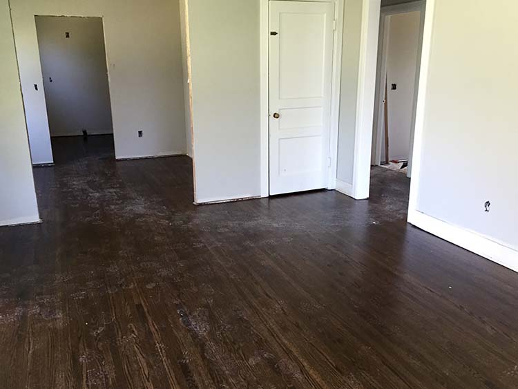 New floors put in for renovation of home in nashville